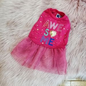 Awesome Pink Princess Tulle Dog Dress / Top